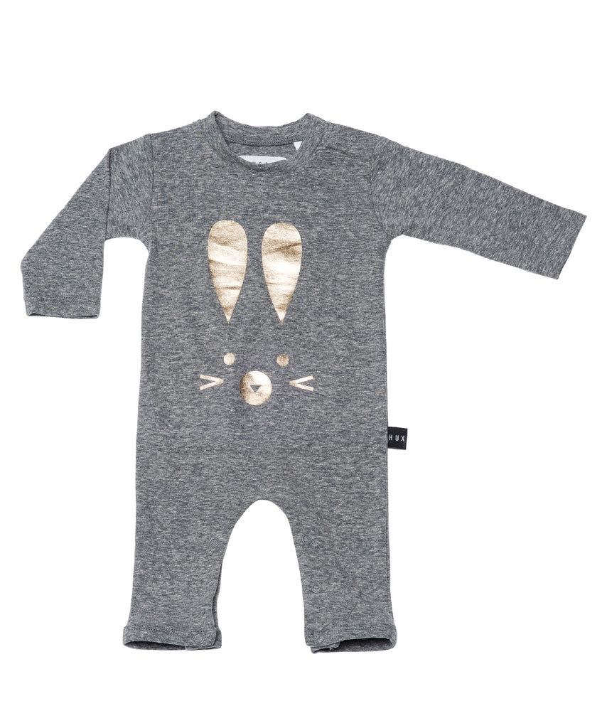 Hux Bunny Long Sleeve Romper by Huxbaby
