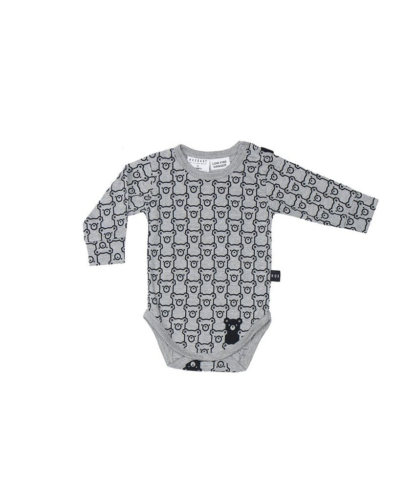Hide n Seek L/S bodysuit by Huxbaby