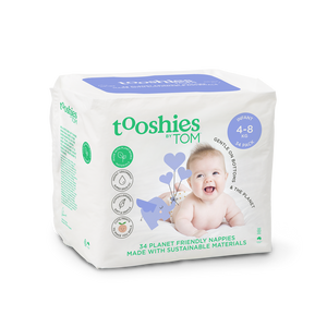 Eco Nappies – Infant 4-8 kg, 34 pcs by Tooshies by TOM