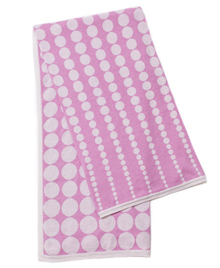 Pink Phased Spot Blanket - Jujo Baby (Bassinet size)