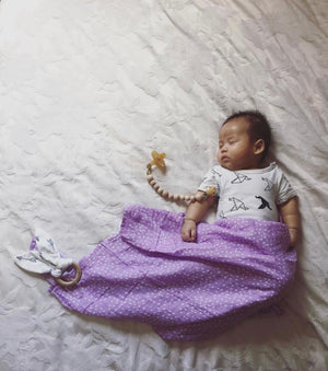 Organic Muslin Swaddle - Lilac Dream by Pear & Co.