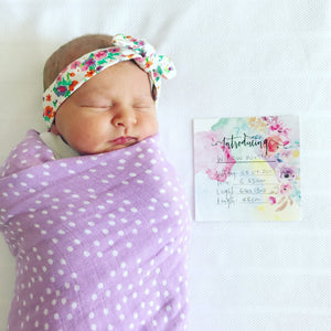 Organic Pack - Fitted Cot Sheet & Swaddle Wrap - Lilac Dream by Pear & Co.