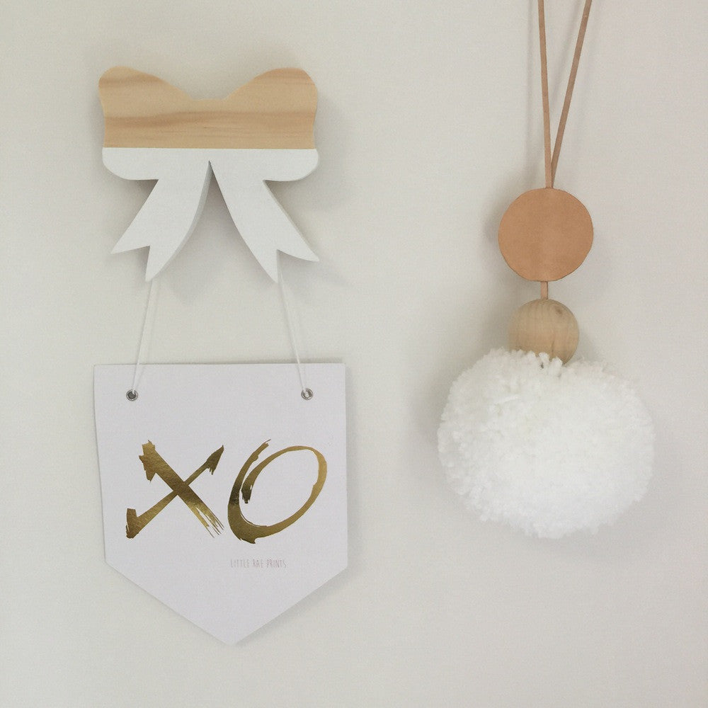 Goil Foil 'XO' Flag Print by Little Rae Prints