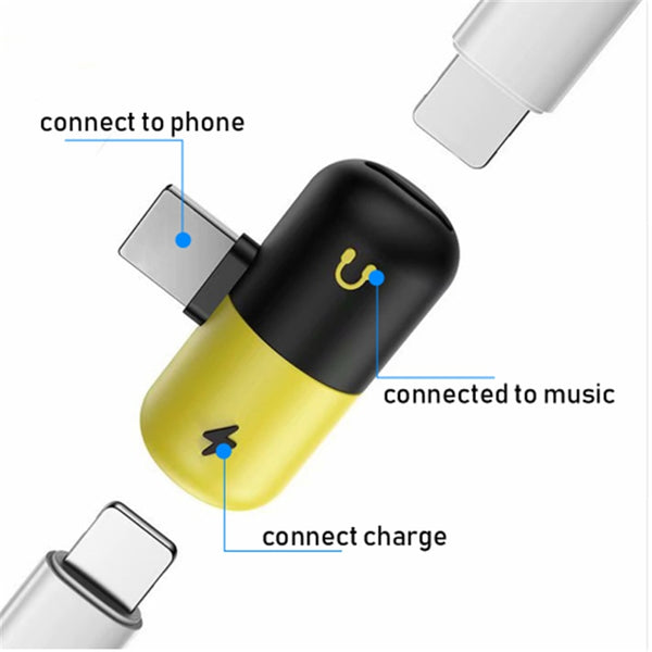 2 in 1 Dual iPhone Adapter