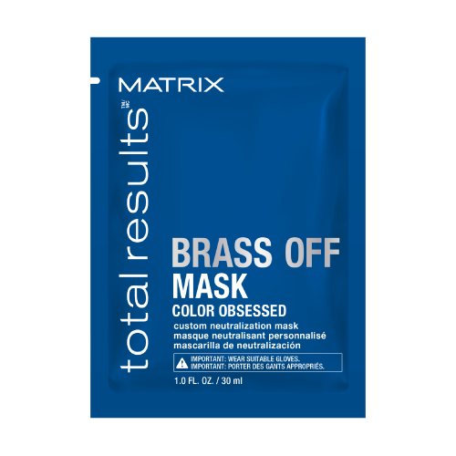 Matrix Total Results Brass Off Mascarilla Matizadora Para Cabellos Castaños Claros 30ml