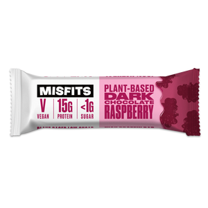 Misfits Plant-Based Bar Dark Chocolate Raspberry Vegan