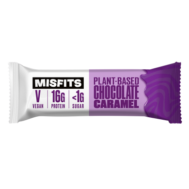Misfits Plant-Based Bar Chocolate Caramel Vegan