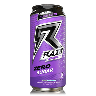 Raze energy grape bubblegum suikervrij