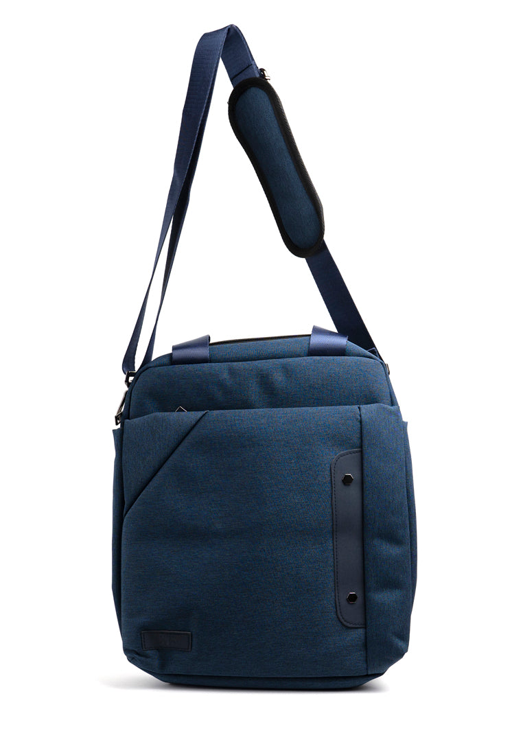 "The Louis Laptop Bag 14"" in Navy Blue"