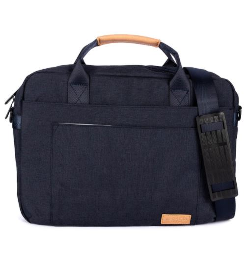 "The Cyrus Laptop Bag 14"" in Navy Blue"