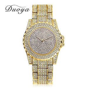 Women Quartz Watch Fashion Bling Casual Ladies Watch Female Quartz Gold Watch Crystal Diamond For Women Clock