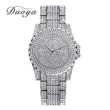 Load image into Gallery viewer, Women Quartz Watch Fashion Bling Casual Ladies Watch Female Quartz Gold Watch Crystal Diamond For Women Clock