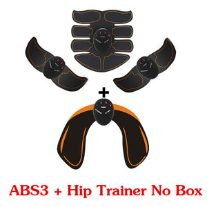 2/4/6/8pcs Set Hip Trainer Abdominal machine electric muscle stimulator ABS ems Trainer Body slimming Massage without retail box