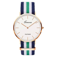 Load image into Gallery viewer, 18 Styles Ultra Slim Quartz Watch Simple Nylon Band Relogio Masculino  Fashion woman men Wristwatches Geneva Ladies Quartz Watch
