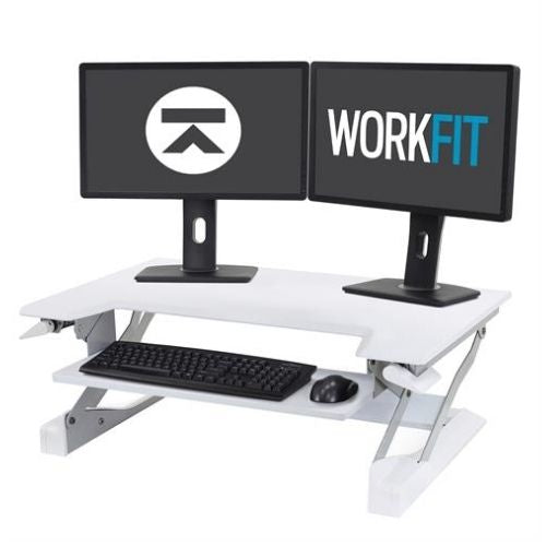 WorkFit-T, Sit-Stand Desktop Workstation (white)