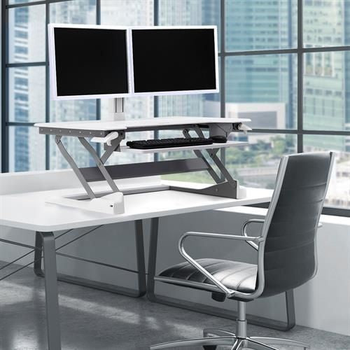 WorkFit-TL, Sit-Stand Desktop Workstation (white)