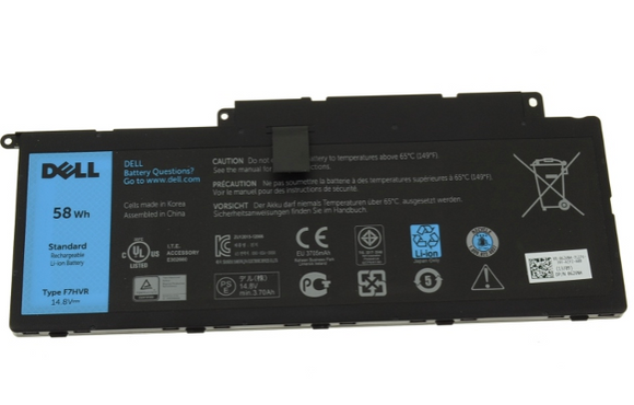 Dell OEM Original Inspiron 15 (7537) / 17 (7737 / 7746) 58Wh 4-cell Laptop Battery - F7HVR - TechExpress