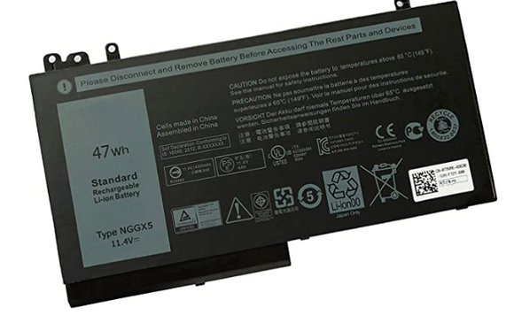 NGGX5 battery for Dell Latitude E5270 11.4V 47Whr 3 Cell Primary Lithium-Ion Battery - TechExpress