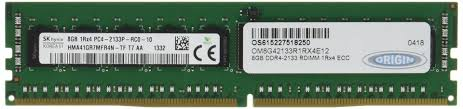 8GB DDR4 2133MHz RDIMM 1Rx4 ECC 1.2V - TechExpress