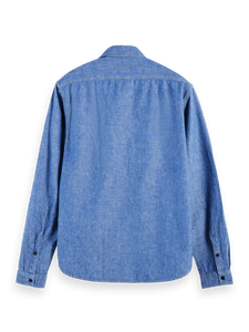 Scotch and Soda Ams Blauw Chambray Shirt - Indigo