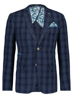 Load image into Gallery viewer, A Fish Named Fred Jacket in Navy Broken Check - MitchellMcCabe