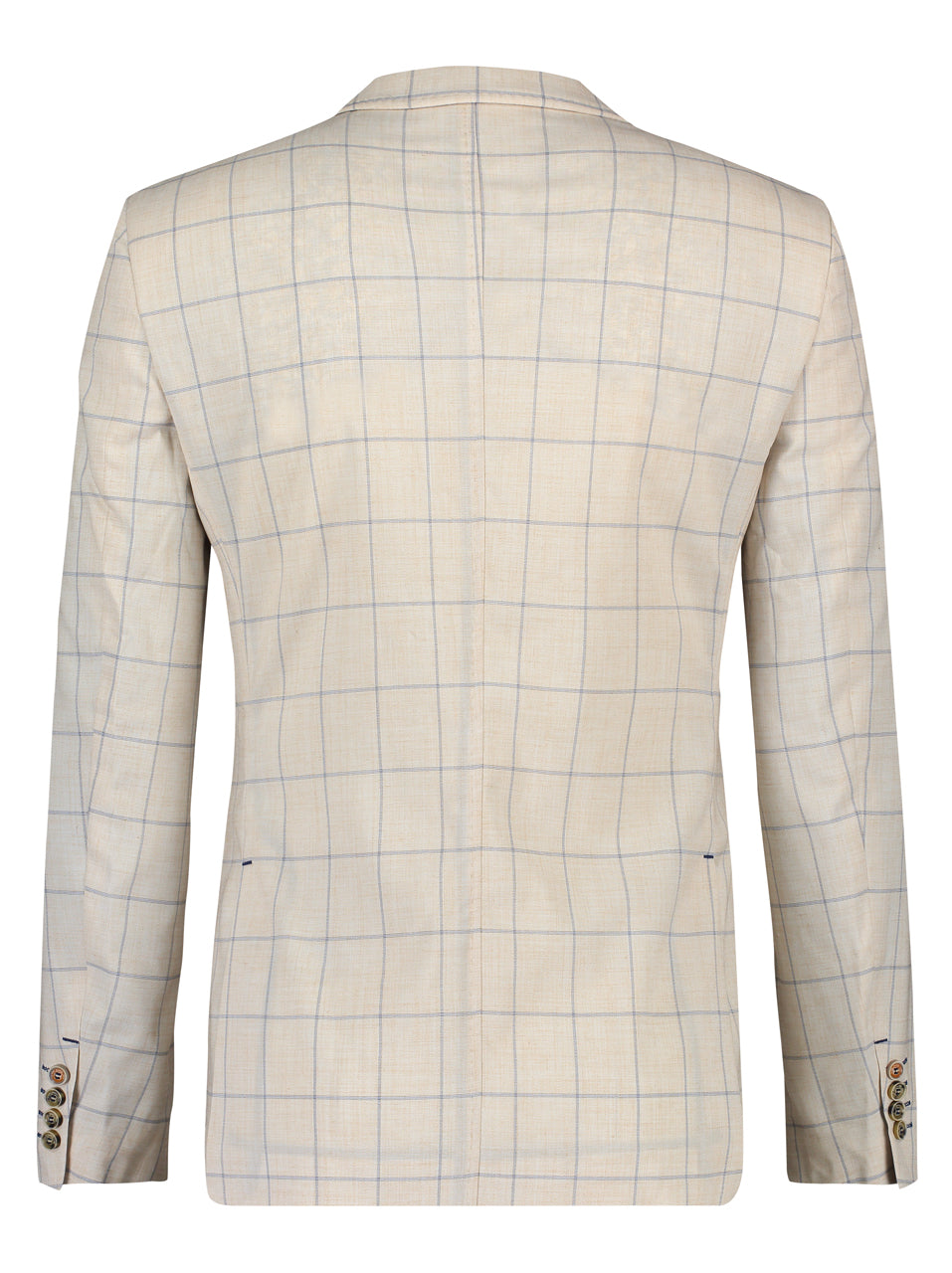 A Fish Named Fred Jacket in Beige Window Pane Check - MitchellMcCabe