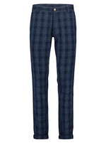 Load image into Gallery viewer, A Fish Named Fred - Sports Pant in Navy Broken Check - MitchellMcCabe