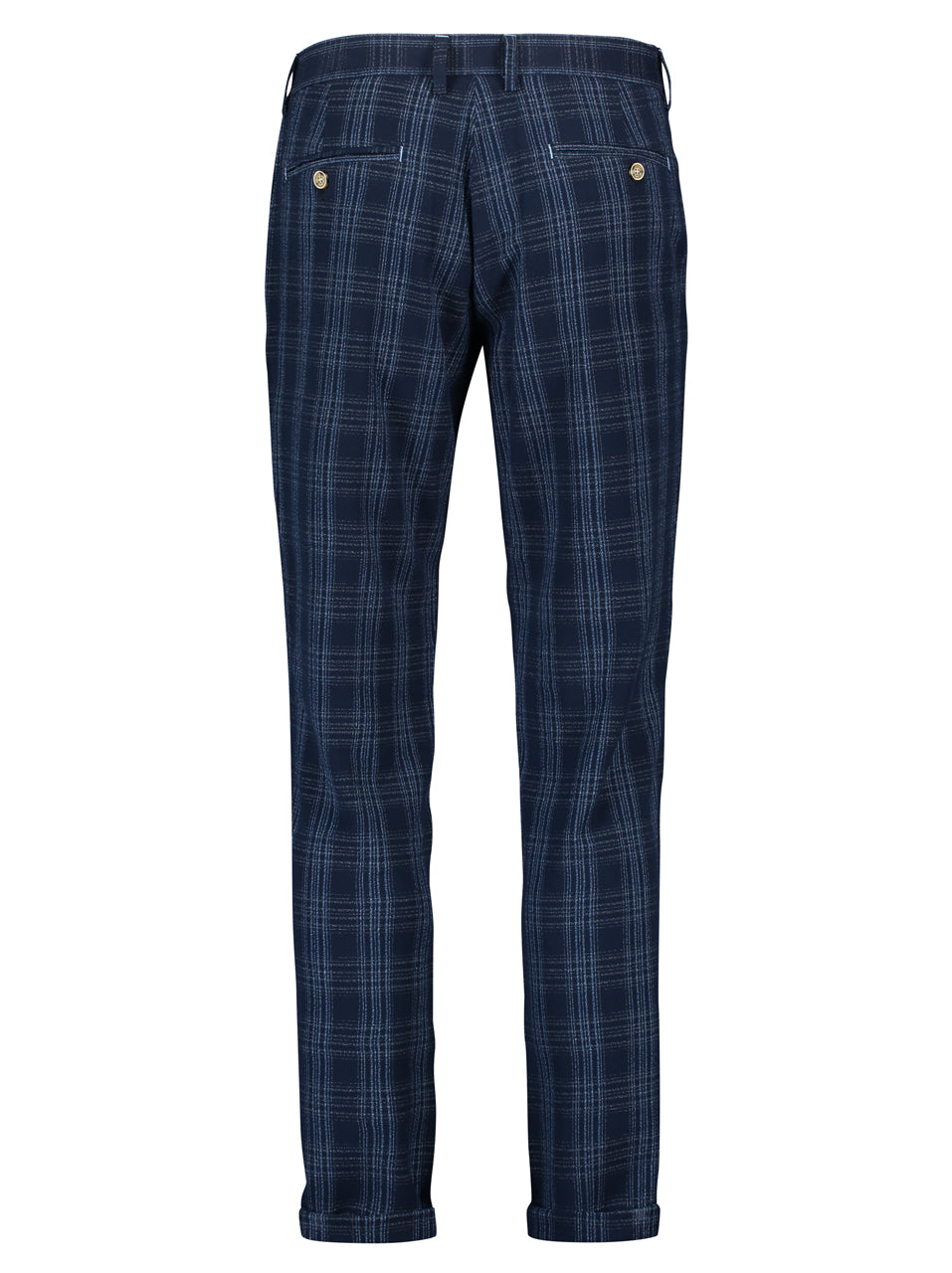 A Fish Named Fred - Sports Pant in Navy Broken Check - MitchellMcCabe
