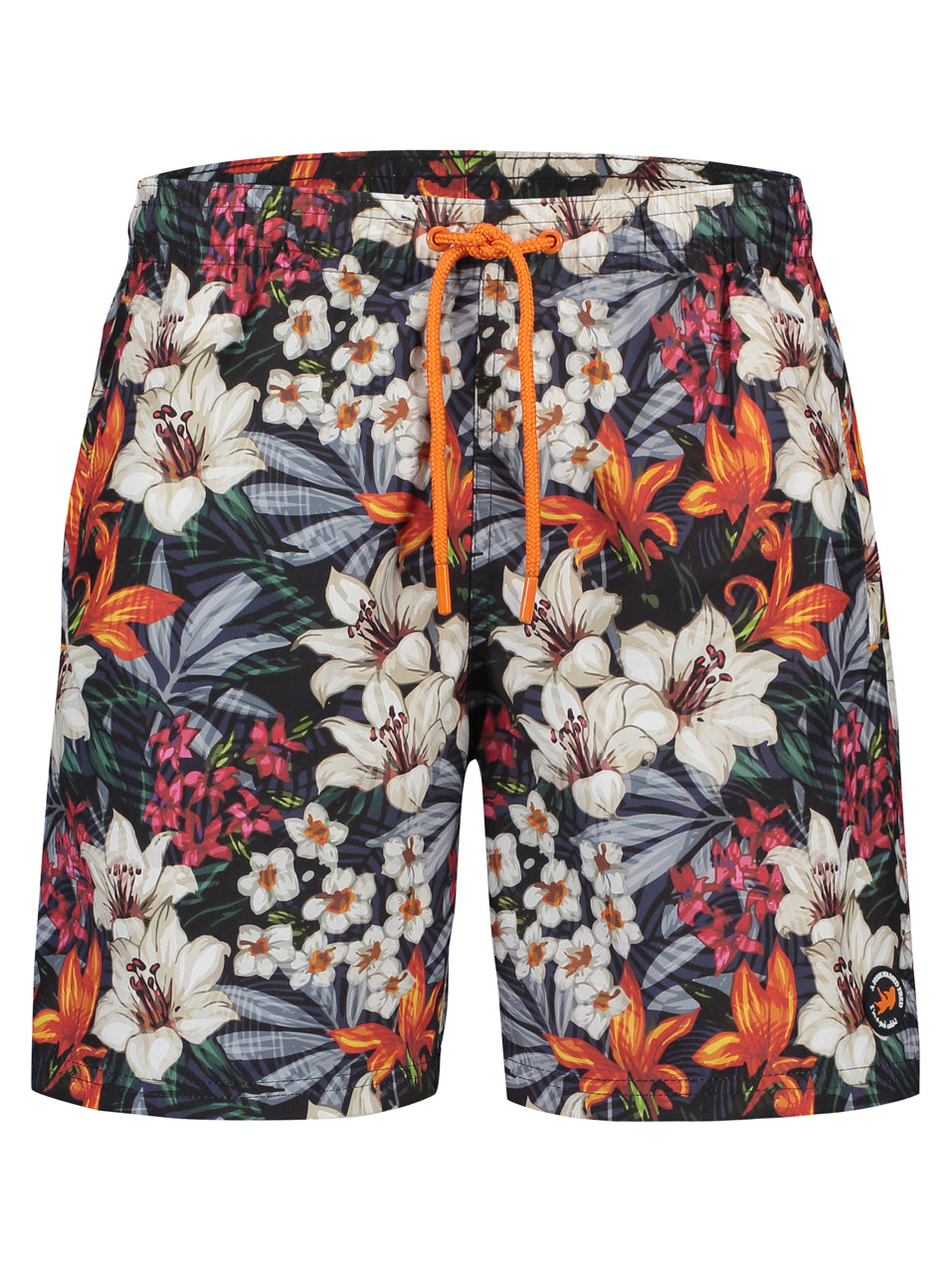 A Fish Named Fred Swimshorts - Tropical Print in Navy - MitchellMcCabe