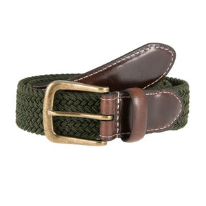 Dents Elasticated Casual Belt - Olive