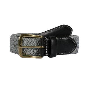 Dents Elasticated Casual Belt - Silver Grey