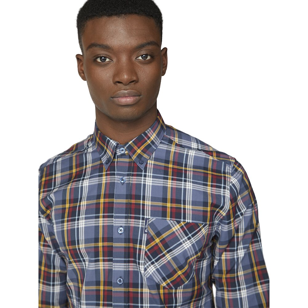 Ben Sherman Classic Plaid Shirt - Gunmetal - MitchellMcCabe