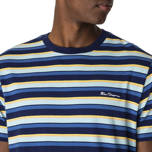Ben Sherman Resort Stripe Tee - Navy