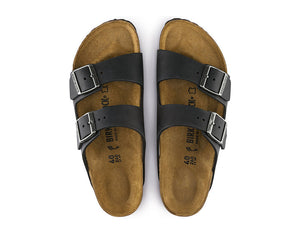 Birkenstock Arizona Oiled Leather - Black - MitchellMcCabe