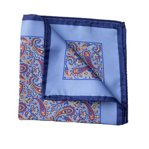 Italian Silk Pocket Squares - Blues - MitchellMcCabe