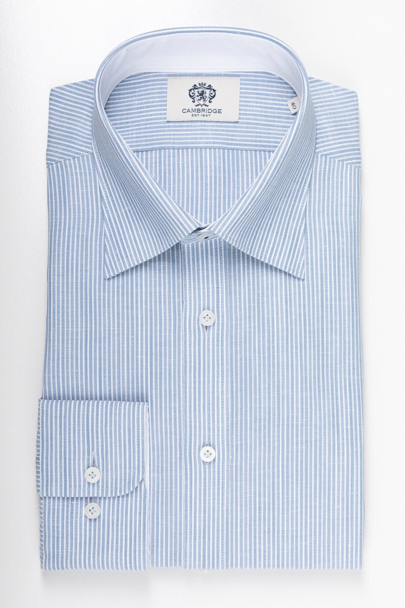 Cambridge Brighton Stripe - Lt Blue