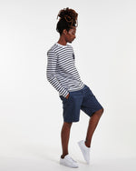 Load image into Gallery viewer, No Nationality Crown Shorts - Navy Blue