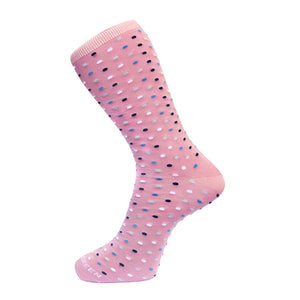 Fortis Green Micro Dot Sock in Pink