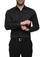 Load image into Gallery viewer, Ganton Slim Fit Stretch Poplin - Black - MitchellMcCabe