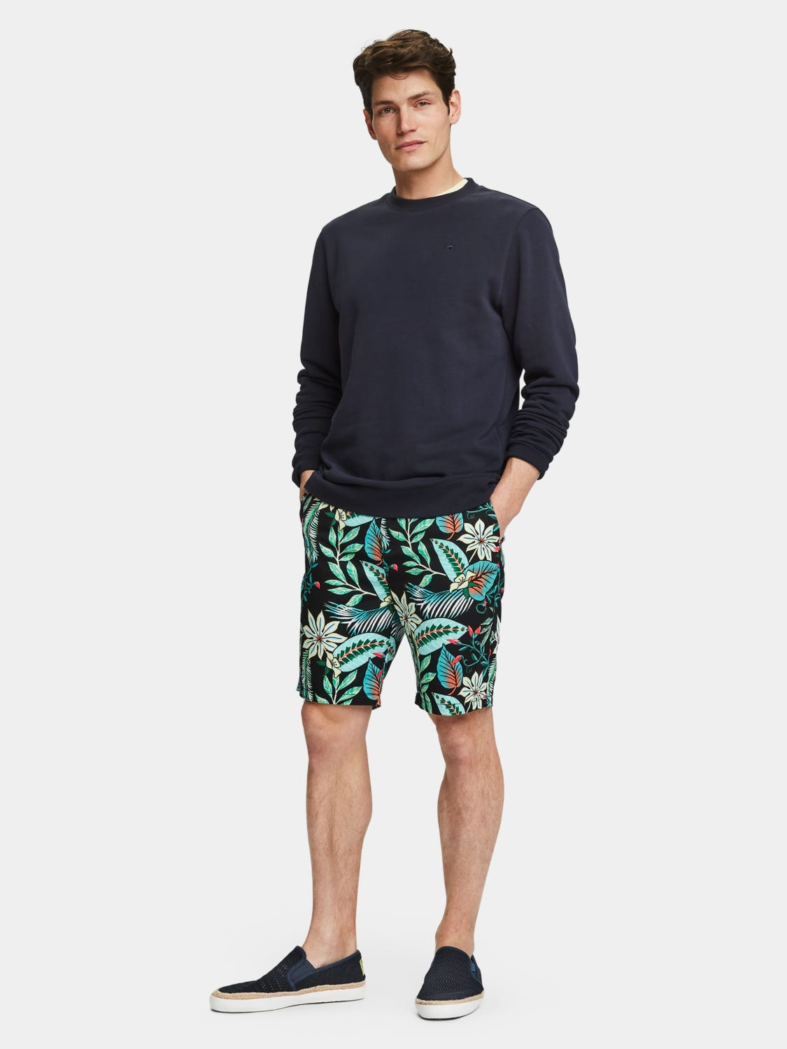 Scotch and Soda Mid Length Printed Chino Short - Combo 219