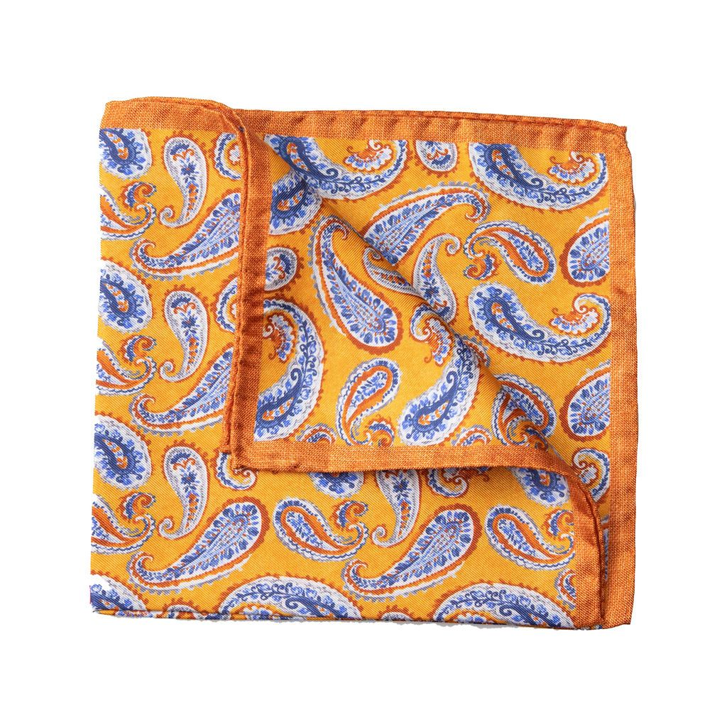 Italian Silk Pocket Squares - Oranges - MitchellMcCabe