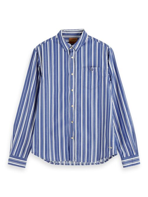Scotch and Soda Long Sleeve Button Down Shirt in Fresh Yarn Dyed Stripes - MitchellMcCabe