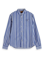 Load image into Gallery viewer, Scotch and Soda Long Sleeve Button Down Shirt in Fresh Yarn Dyed Stripes - MitchellMcCabe