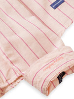 Load image into Gallery viewer, Scotch and Soda Classic Striped Cotton Linen Shirt - Pink - MitchellMcCabe
