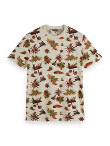 Scotch and Soda Crew Neck Tee in Seasonal All Over Print - Combo 217 - MitchellMcCabe