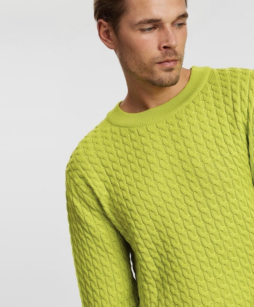 McIntyre Kenneth Cable Knit - Lime Green