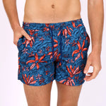 Load image into Gallery viewer, Original Weekend Swim Shorts - Jungle Floral in Aegean