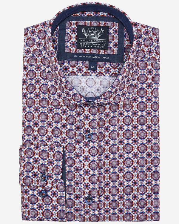 Thomson & Richards Print Shirt - Franck - MitchellMcCabe