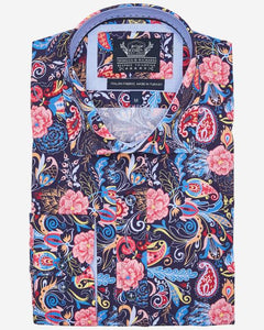 Thomson & Richards Print Shirt - Raphael - MitchellMcCabe