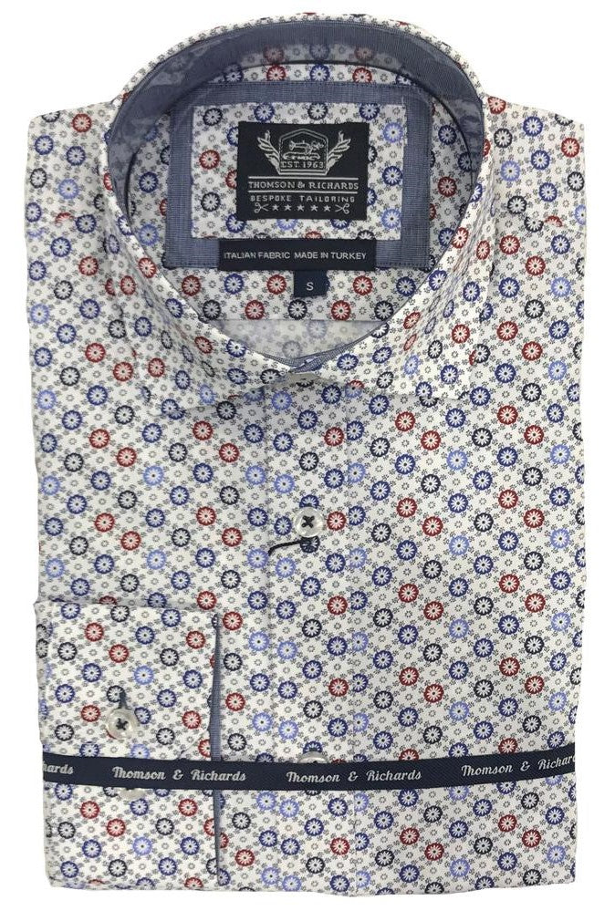 Thomson & Richards Print Shirt - Robben - MitchellMcCabe